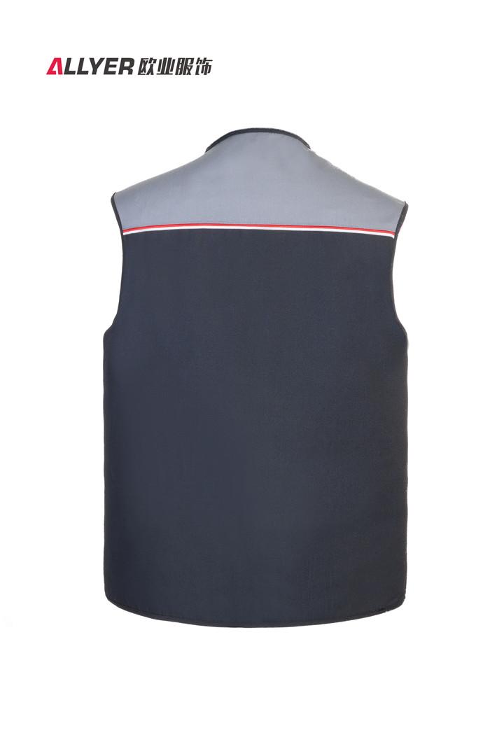 MJ03时尚拼色多口袋马甲工装可定制logo广告