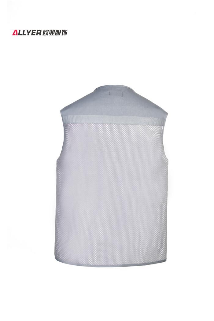 网布带反光条多口袋工装马甲乐动投注平台MJ05