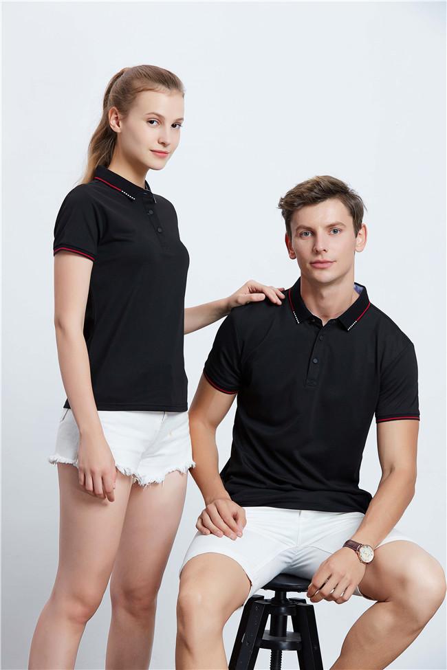 高端POLO衫定制工装企业乐动投注平台T恤 黑色