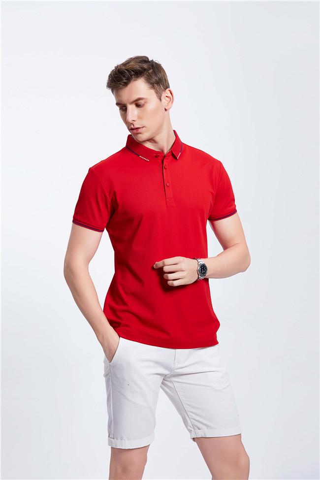 高端POLO衫定制工装企业乐动投注平台T恤 红色
