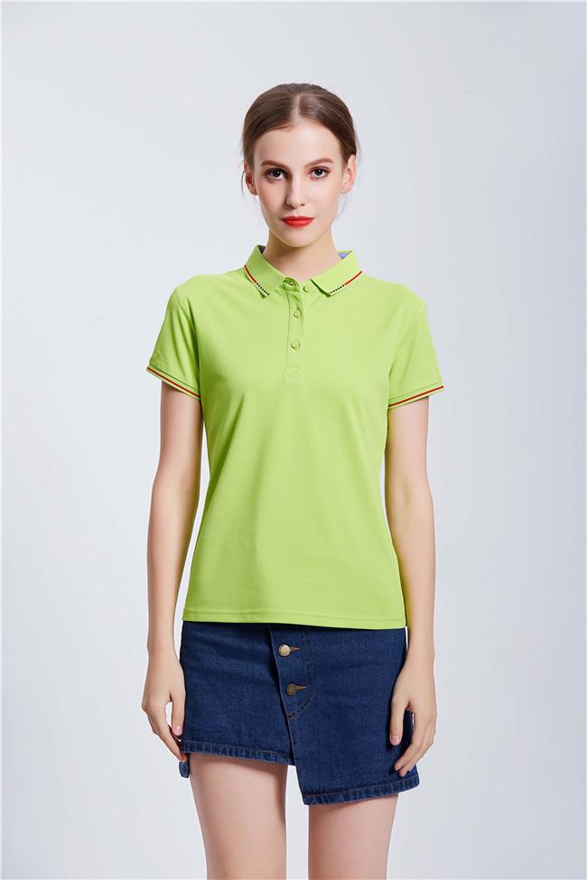 高端POLO衫定制工装企业乐动投注平台T恤 绿色